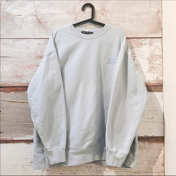 Vintage Other - baby blue sweatshirt// Wind River